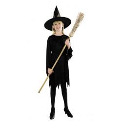 Costume Strega nero per Halloween Bambini 10-12 anni