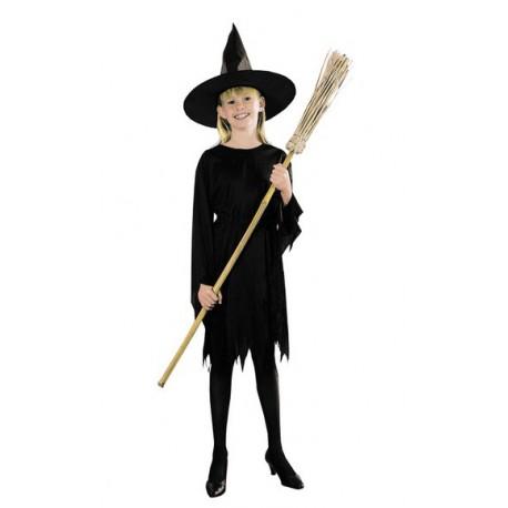 Costume Strega nero per Halloween Bambini 10-12 anni 545b478fda77