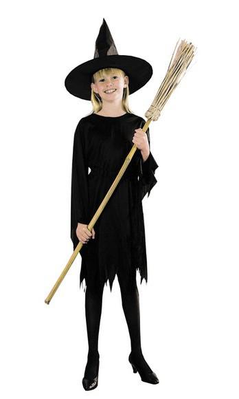 Costume Strega nero per Halloween Bambini 284696e2a708