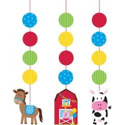 Pendenti Festa Compleanno Animali Fattoria