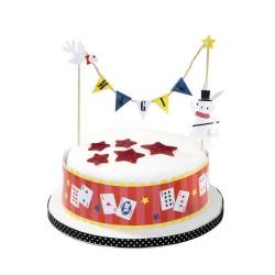 Set decorazione per torta Festa Magia