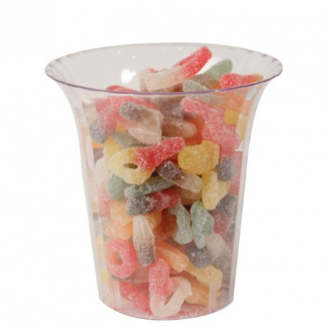 Flared Cylinder plastic Candy Container