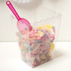 Rectangular Scaloped plastic Candy Container