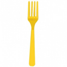 Forchette Plastica Giallo 20pz