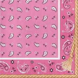 Tovaglioli Pink Bandana per festa Western Bambina
