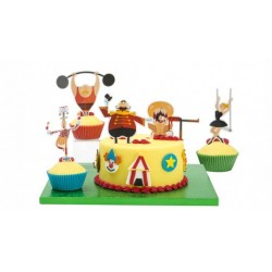 Set decorazione per torta Festa Circo