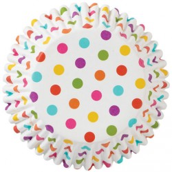 Rainbow Dots Rigid Cupcakes Baking Cups