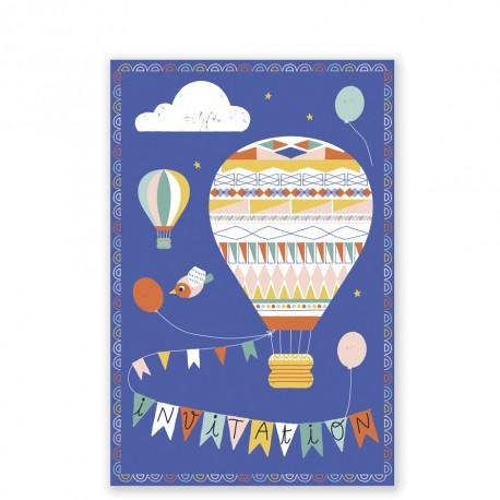 Hot-air Balloon invitations