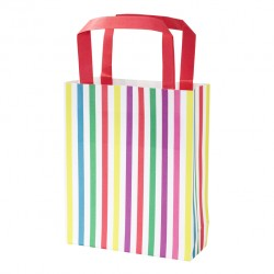 Multicolored striped party bags