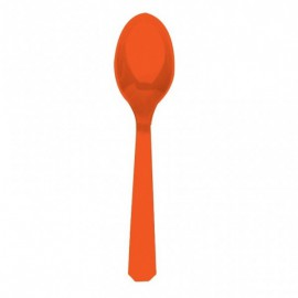 Orange Plastic Spoons 10pc
