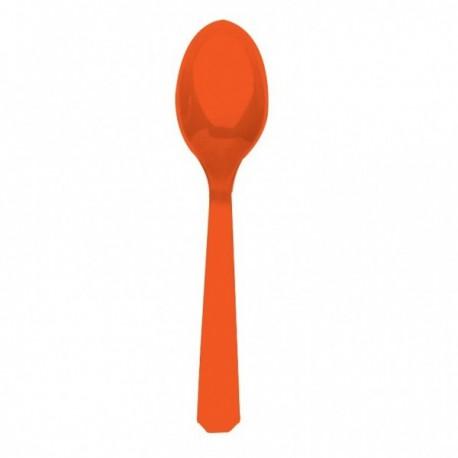Cucchiai Plastica Arancione 24pz