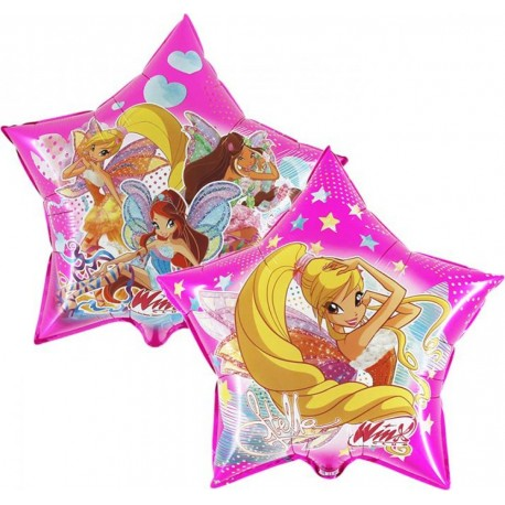 Winx foil SuperShape balloon star shaped both sides