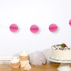 Pink Mini Honeycomb Garland