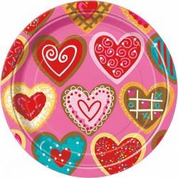 Sweet Hearts Dessert Plates