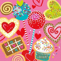 Sweet Hearts Lunch Napkins
