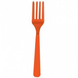Forchette Plastica Arancione 10pz