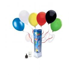 Bombola Elio piccola con 10 palloncini