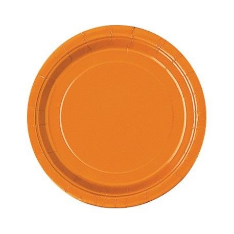 Piattini Carta Arancione 18cm 8pz