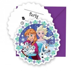 Frozen Snowflakes Invitations