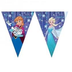 Frozen Snowflakes Flag Banner