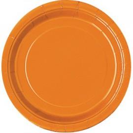 Piatti Carta Arancione 23cm 8pz