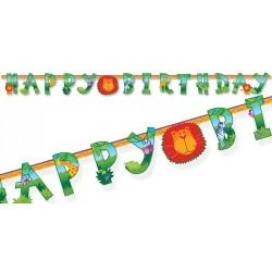 Festone Happy Birthday Giungla - Festa Compleanno Giungla