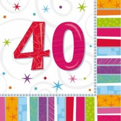 Tovaglioli per festa 40 Anni Radiant Birthday