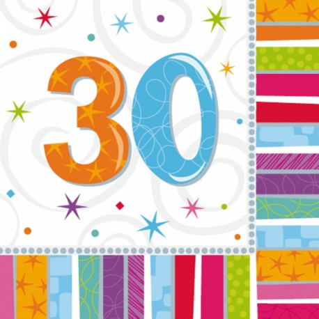 Tovaglioli festa compleanno 30 anni