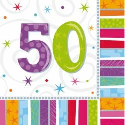 Tovaglioli festa compleanno 50 Anni