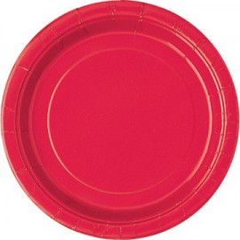 Piatti Carta Rosso 23cm 8pz