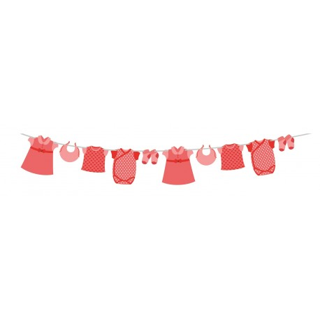 Pink Baby Clothes Garland