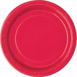 Piattini Carta Rosso 18cm 8pz