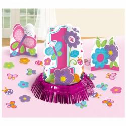 Set Decorazione Tavola Farfalle per Primo Compleanno Bimba