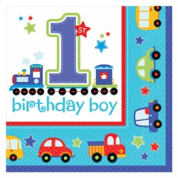 All Aboard First Birthday Napkins