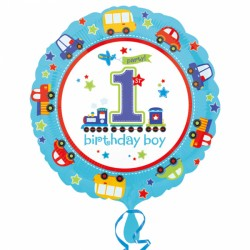 All Aboard First Birthday Foil Balloon