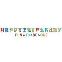 """Set 2 Festoni Primo Compleanno """"Tutti a Bordo"""" - dettaglio"""