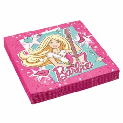 Tovaglioli Festa Barbie Popstar