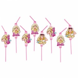 Barbie Popstar Drinking Straws