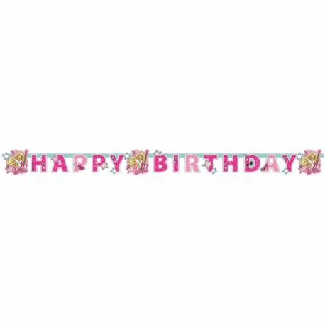Barbie Popstar Happy Birthday Banner