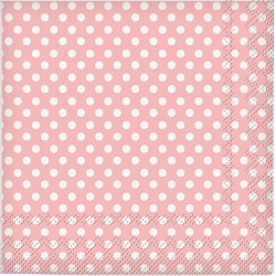 Tovagliolini rosa a pois
