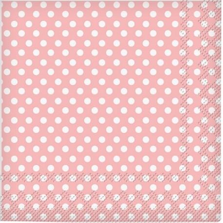 Light Pink Dots Beverage Napkins