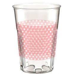 Bicchieri plastica rosa a pois