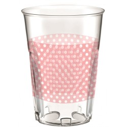 Crystal Pink Dots Cups