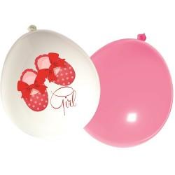 Welcome Baby Girl Balloons