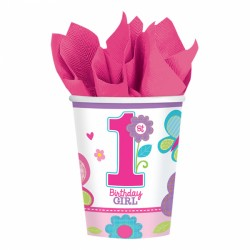Butterfly First Birthday Cups