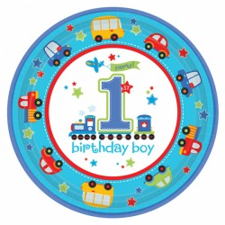 All Aboard First Birthday Plates