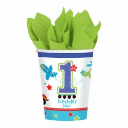 All Aboard First Birthday Cups