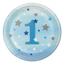 Little Star Boy Dessert Plates