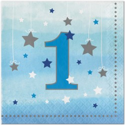 Little Star Boy First Birthday Napkins
