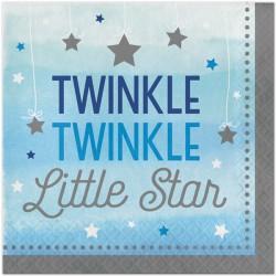Tovaglioli Stelline Azzurro - Twinkle Twinkle Little Star